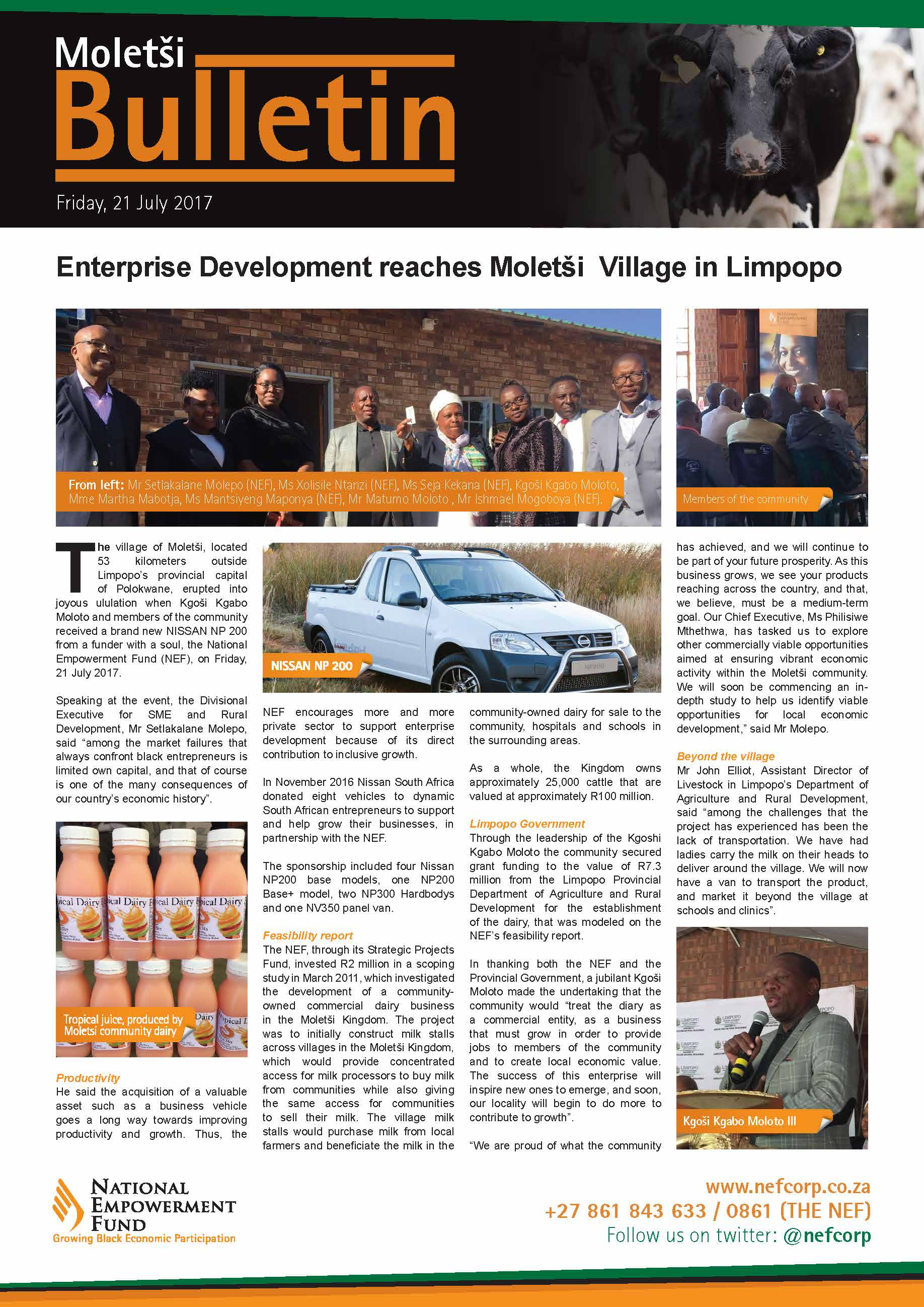 Enterprise Development Reaches Moletši Village In Limpopo