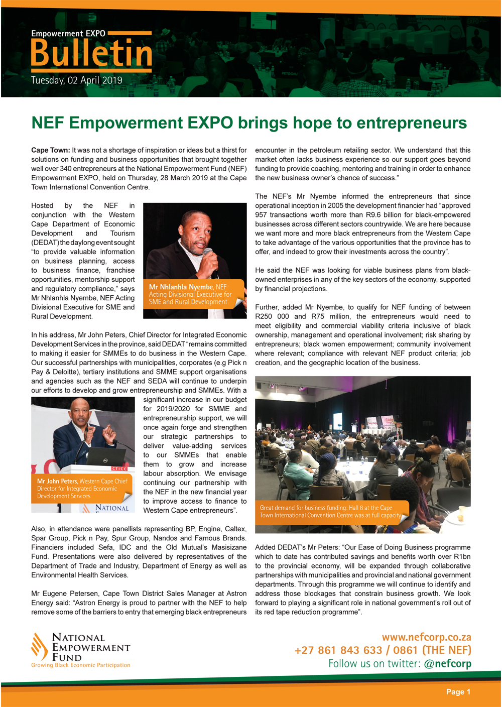 NEF Empowerment EXPO Brings Hope To Entrepreneurs
